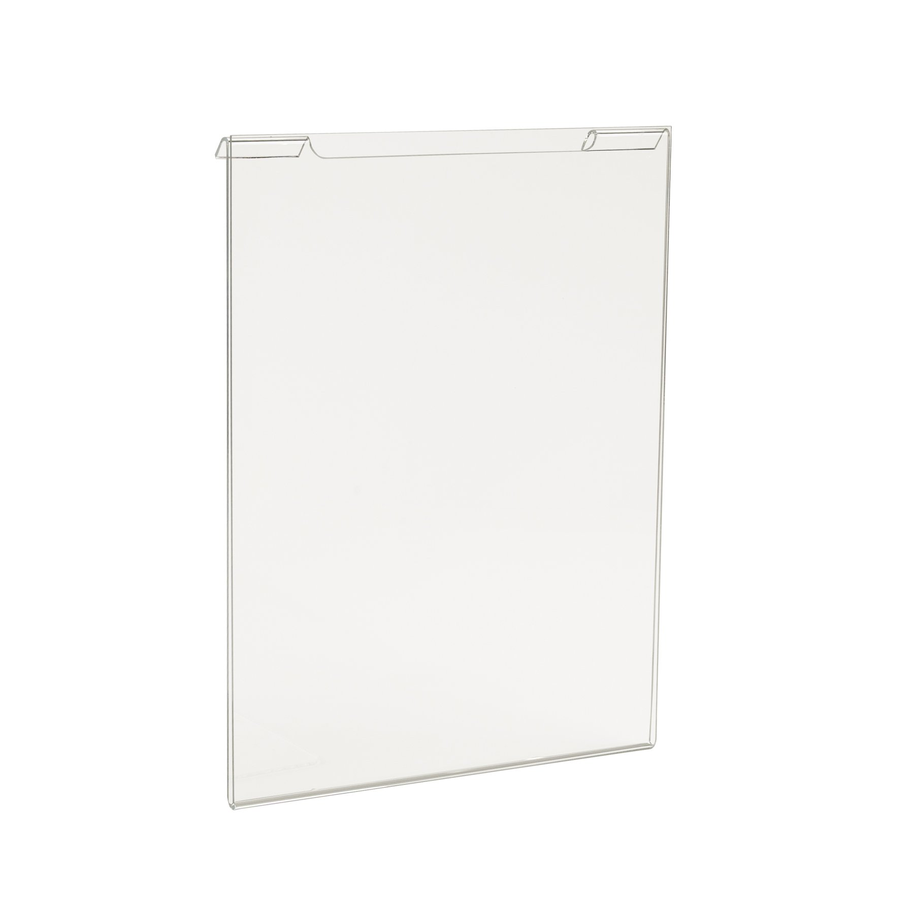 Econoco Commercial Acrylic Vertical for Slatwall/Gridwall, 8-1/2'' Width x 11'' Height (Pack of 24)