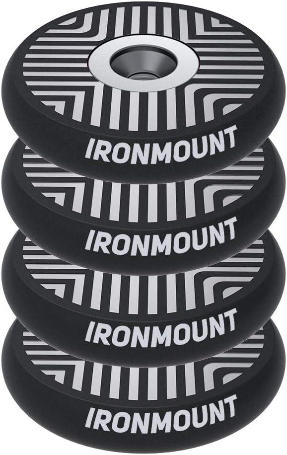 IronMount Gun Magnet Mount | 25 Lb Rated Single-Sided Magnetism | Adhesive Magnets Rubber Coated Magnetic Gun Mount & Holster | Concealed Holder for Car, Handgun, Pistol, Shotgun, Rifle (4 Pack) 61ahIHnt1gL