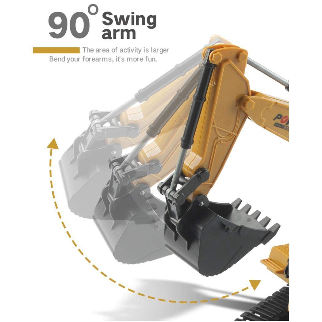 Bealye 1:24 Four-Wheel Drive Crawler Excavator Remote Control Educational Toy with Light by Bealye (Image #5)