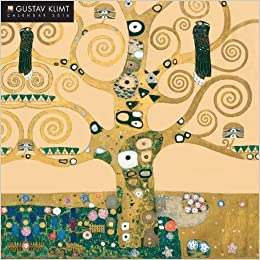 gustav klimt 2019 12 x 12 inch monthly square wall calendar by flame tree with glitter flocked cover austrian symbolist painter art artist