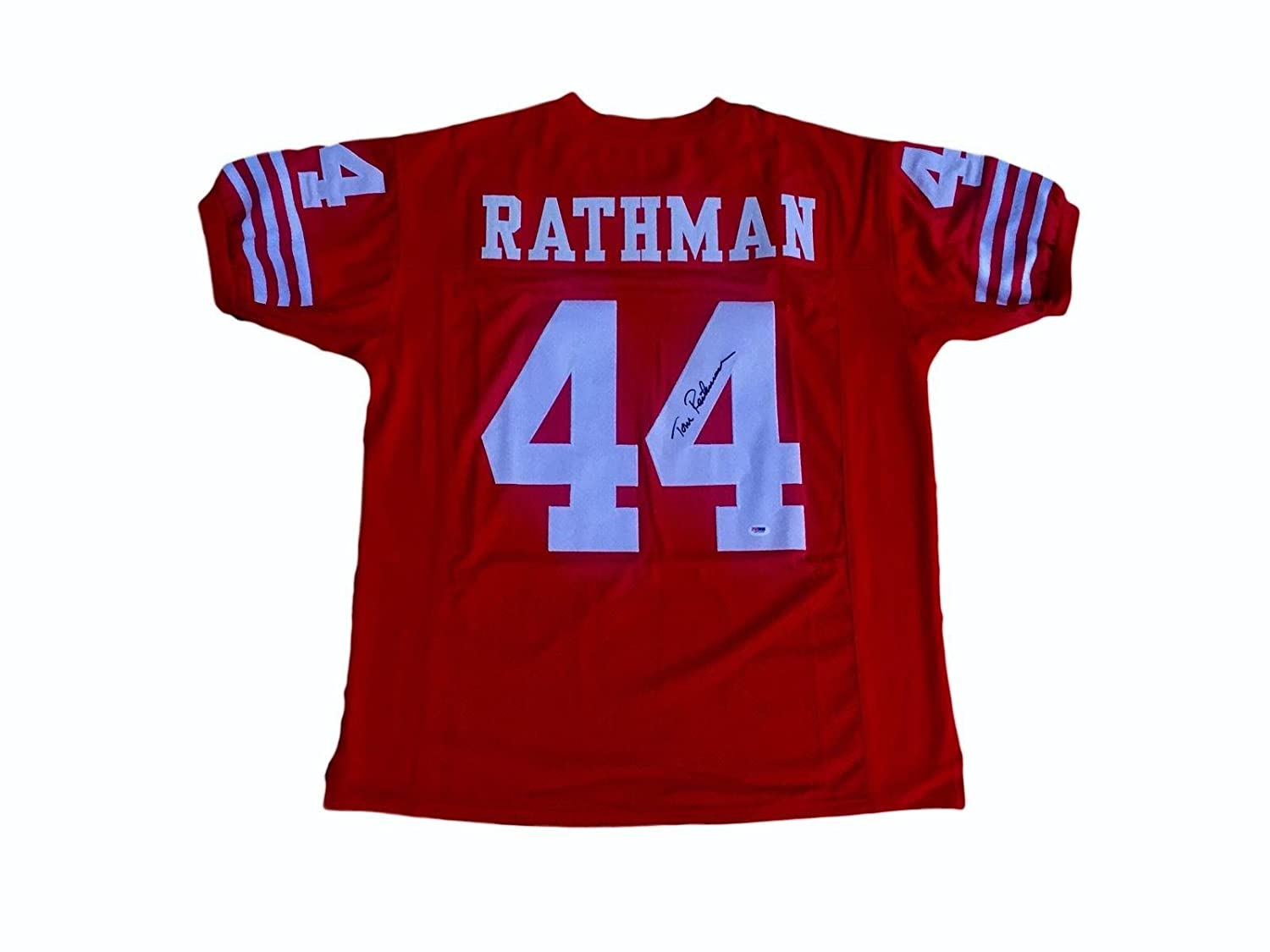 info for c635f 19244 Tom Rathman Autographed Jersey - PSA/DNA Certified ...