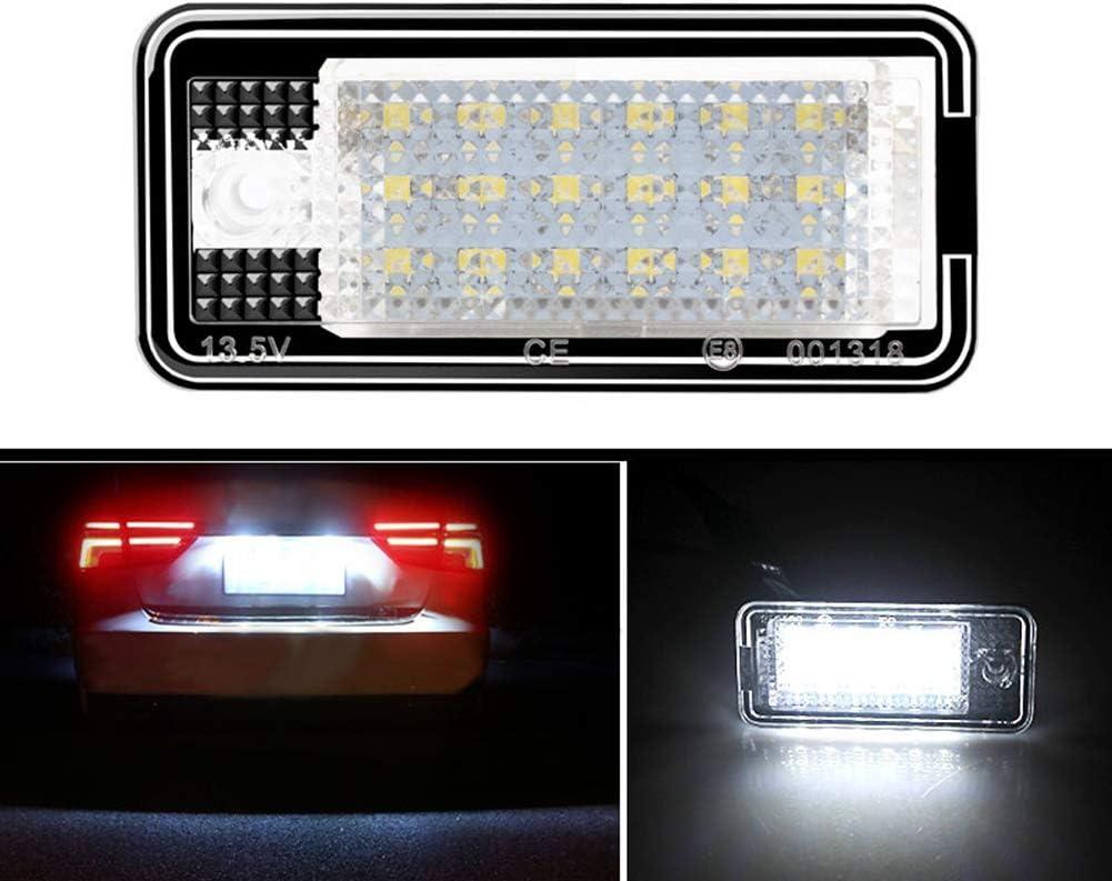 luces de luz de matr/ícula de coche LED para Au-di A3 S3 A4 S4 A6 A8 S8 Q7 barsku 2 piezas luces de matr/ícula de luz de matr/ícula