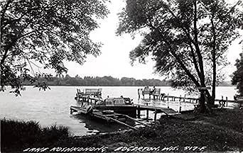 Lake Koshkonong, Wisconsin - Kayak Scene: Retro Travel