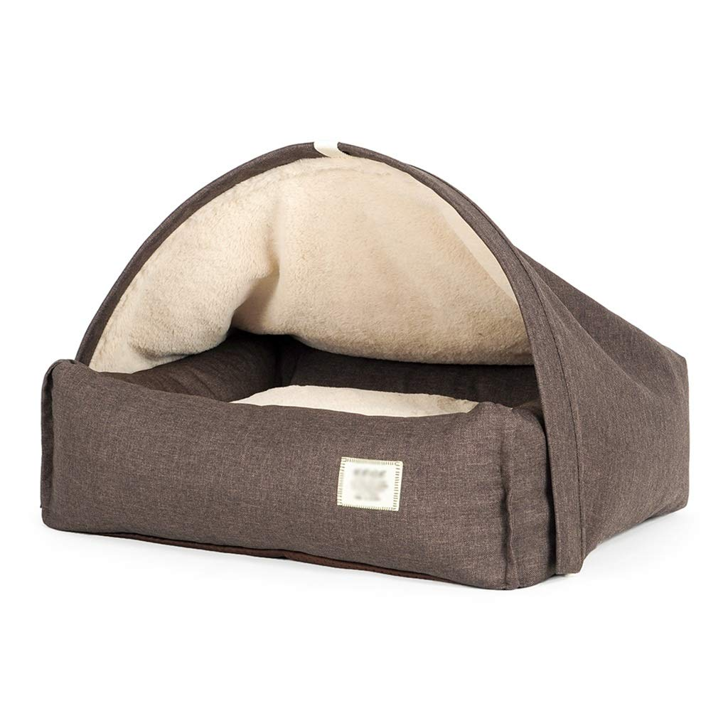 756019 Pet house kennel Half encirclement Puppies Medium dog Keji Bichon sleeping bag mat Small dog Tent warm (Size   75  60  19)