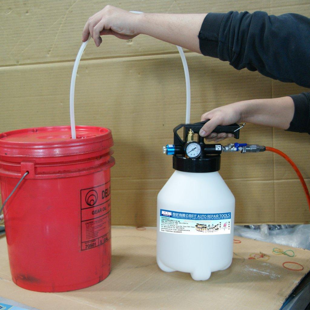 Ajuste Herramientas 6L dos manera neumático Motor Gear aceite y líquido Extractor con 2pcs manguera Set: Amazon.es: Bricolaje y herramientas