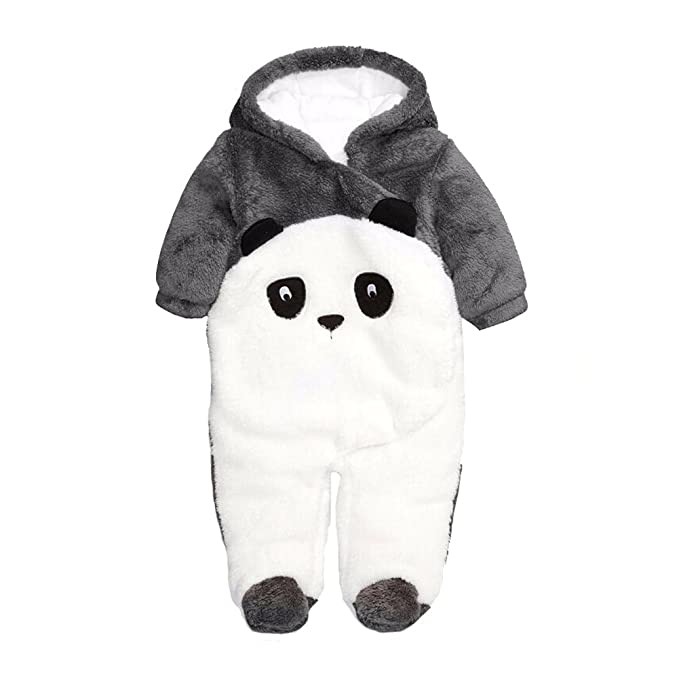 b6de37dc9 Fairy Baby Panda Onesie Baby Winter Clothes Newborn Boys Girls Animal  Outfits Flannel Pajamas, 0-12 Months: Amazon.co.uk: Clothing
