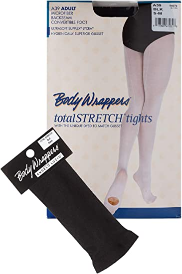 Body Wrappers A39 Women/'s L//XL Classic Ballet Pink Backseam Convertible Tights