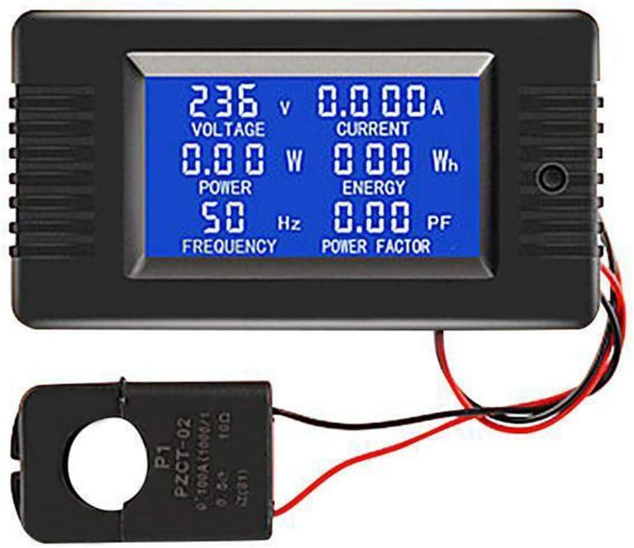 LOL Lo PZEM-022 100 A, voltaje, corriente, factor de frecuencia, factor de energ/ía Medidor de potencia digital