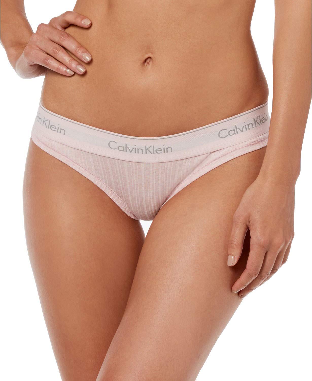 aa053deed8 Galleon - Calvin Klein Women`s Modern Cotton Logo Bikini (Nymphs  Heather(QF4954-105) Grey