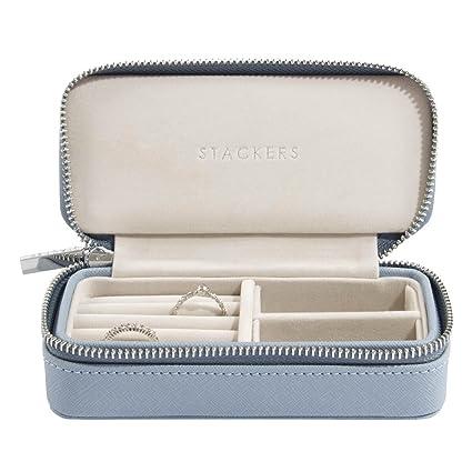 Stackers Dusky Blue Medium Travel Jewellery Box