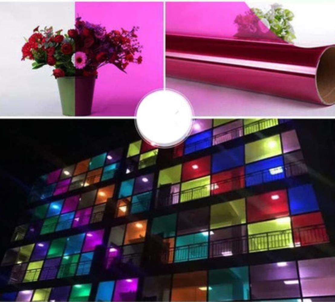 Vert Pomme Aomerrt Coloris d/écoratifs Autocollants de fen/être Film Porte coulissante Autocollant Film de Verre Film de fen/être Transparent bi-directionnel cellophane 30x100cm