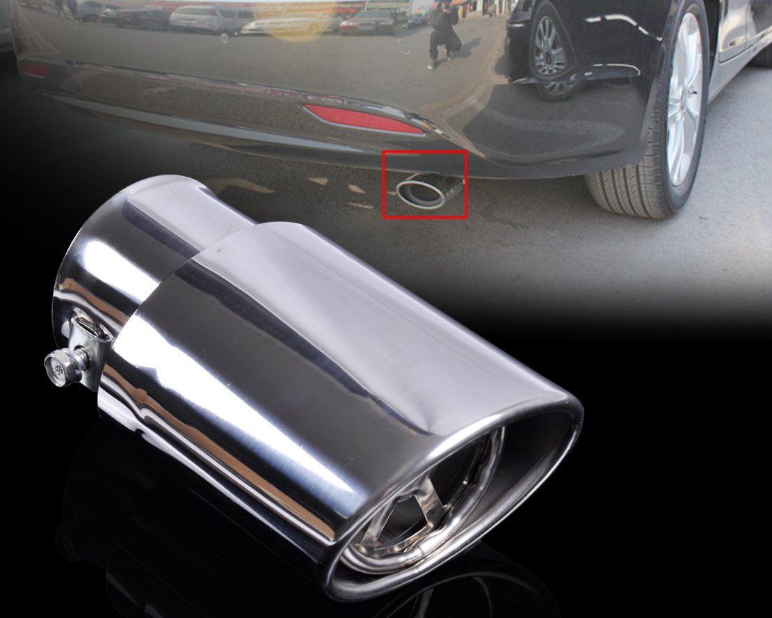 SalaBox-Accessories - 63mm/24.80 inch Chrome Exhaust Tail Muffler End Pipe For Hyundai Sonata Mitsubishi LANCER EX Suzuki Swift Nissan Sunny - - Amazon.com