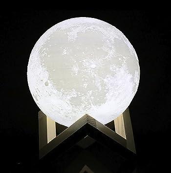 HAIXIANG Tooarts 3D Printing Light Charging Luna Moon Lamp Modern Sculpture  Bedroom Night Light 7 quot. Amazon com  HAIXIANG Tooarts 3D Printing Light Charging Luna Moon