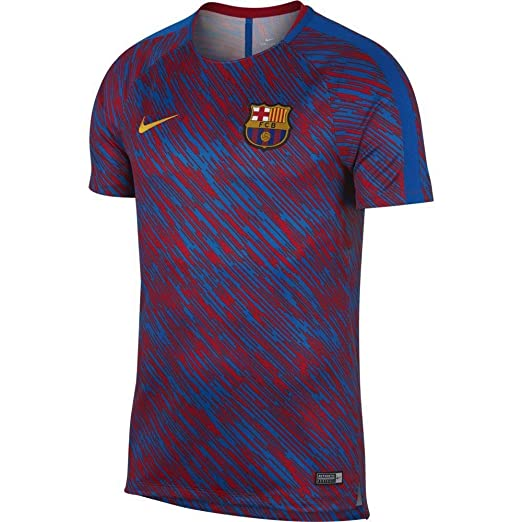 Amazon.com  NIKE Men s Soccer Barcelona Dry Squad Training Jersey  Sports    Outdoors 90a4c9787ac