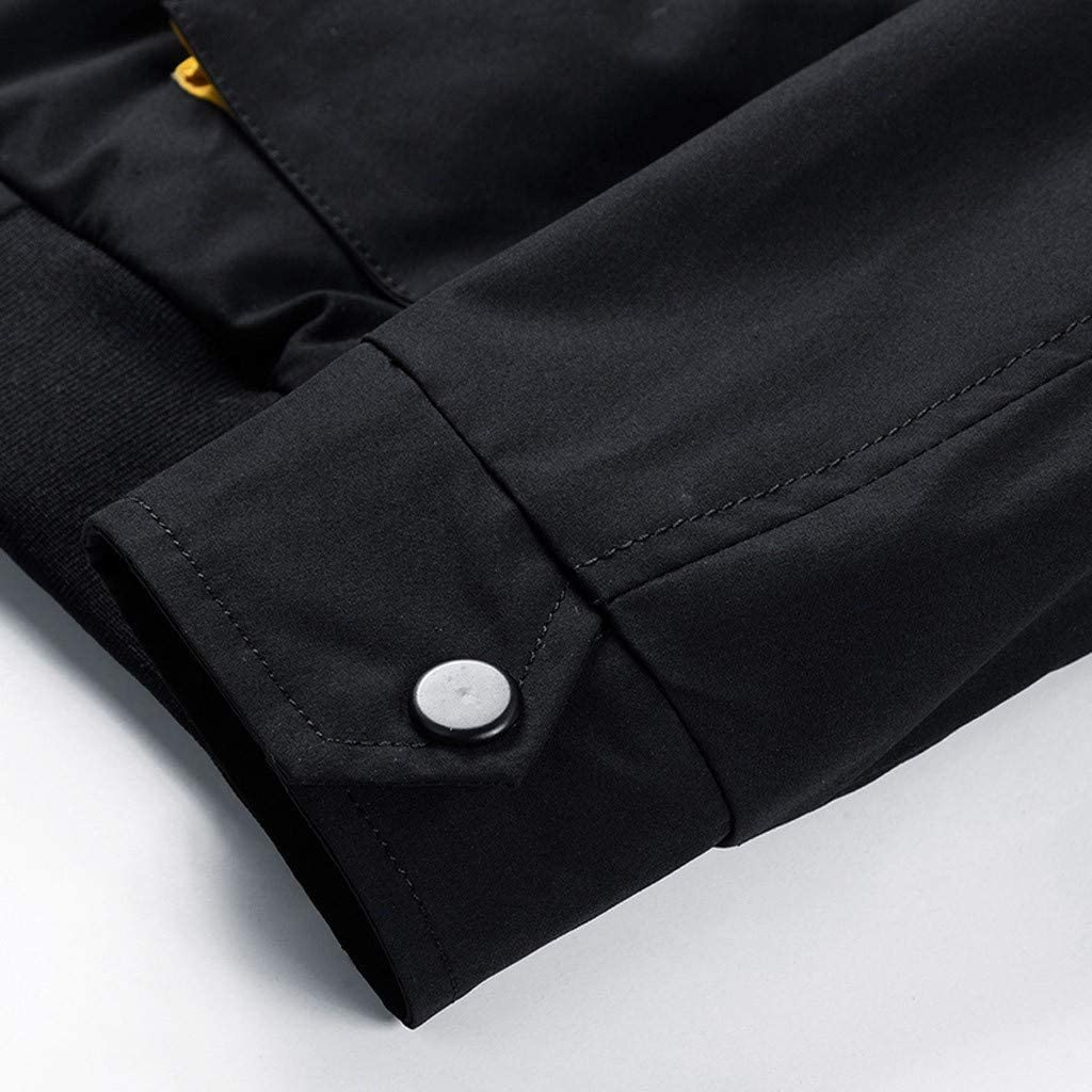 Siviki Men Jacket,Zip Up Loose-Fit Round Neck Halloween Long Sleeve Slim Fit Autumn Winter Blouse Outwear