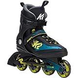 K2 Skate Herren Kinetic 80Inline-Skate, Schwarz, Grün, Gelb, 5