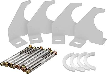 Support universel pour radiateur /à colonne verticale 92 mm, chrom/é