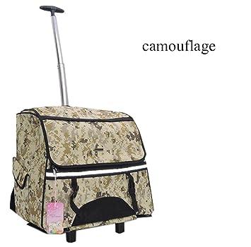 transportin carrito perro trolley Portable Removable mochila perro pequeño 600D Oxford , Camouflage