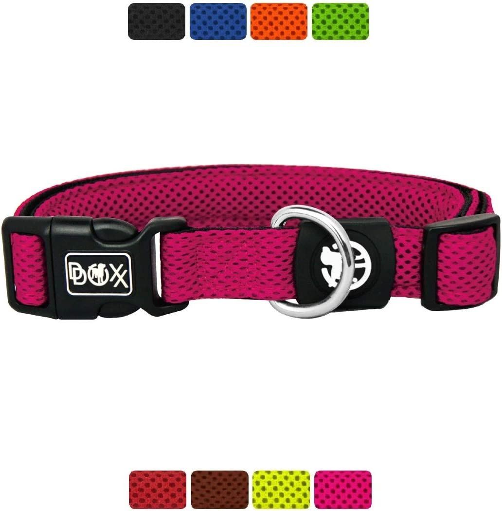 Diferentes Colores /& Tama/ños L Marr/ón Mediano y Grande DDOXX Collar Perro Air Mesh Collares Accesorios Gato Cachorro Ajustable Acolchado para Perros Peque/ño
