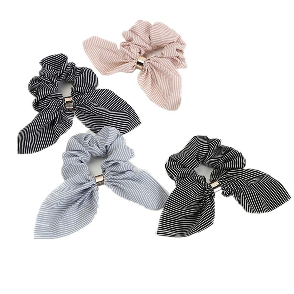 U0J7 Women Big New Faux Leather Scrunchie Hair Ring Hair Bands Sports Tie