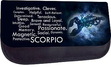 Amazon com : Zodiac Scorpio Traits TM Pencil Case Made in