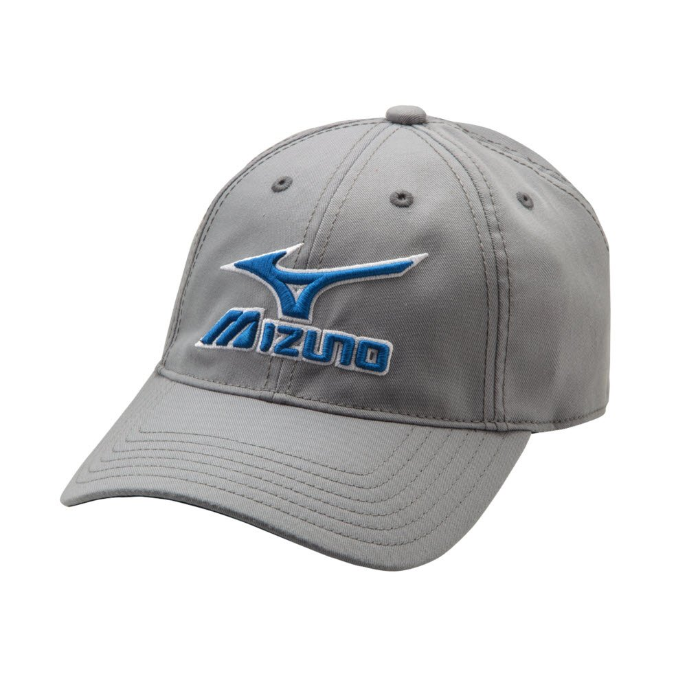Mizuno MIZ Low Profile ADJ Hat, Black-Grey 370210.9091.10.ONE