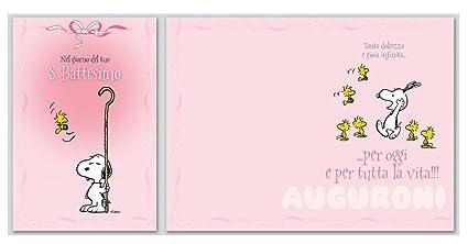 biembi spa b2 m180108 tarjeta Bautizo Snoopy: Amazon.es ...