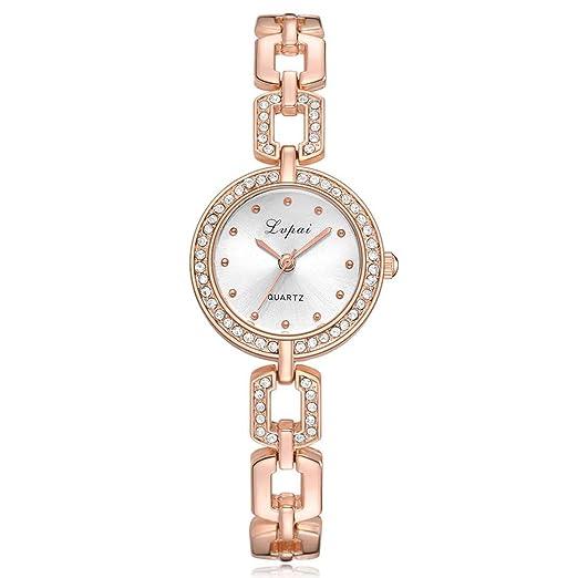 Marca de Lujo Moda Casual Mujer Rhinestone Relojes Reloj de Pulsera de señora Simple Reloj de