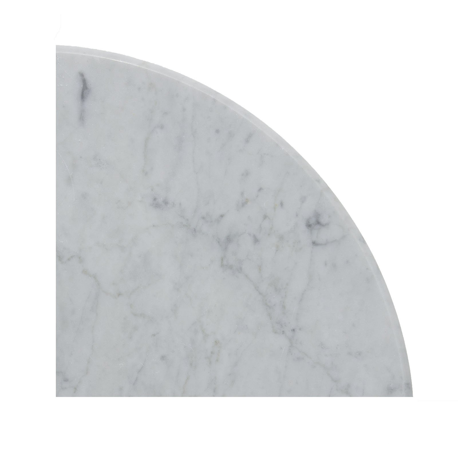 Carrara White Marble Accessory, CWMT9SHE, 9''X9''X3/4'' Corner Shelf, Both Sides Polished ((Two Pieces))