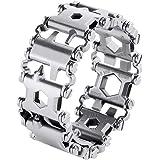 Multi Tool Bracelet for Men, 29 in 1 Stainless Steel Multifunction Bracelet Survival Multitools Bracelet Travel Friendly Wear