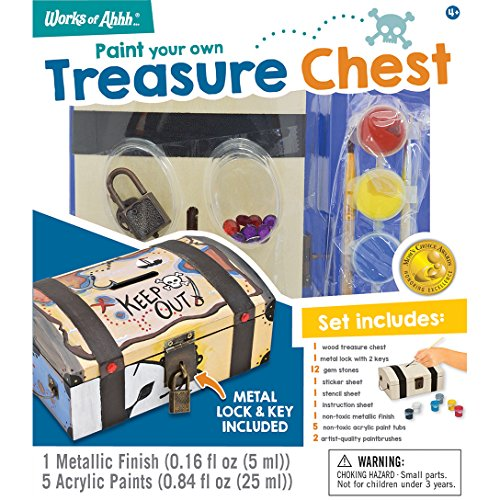 MasterPieces Works of Ahhh Treasure Chest Wood Paint Kit