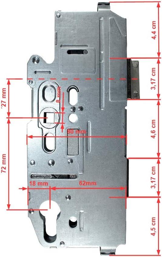 Fuhr Reparatur Schlosskasten Hauptschloss Multisafe 855 Dornma/ß: 65mm // Entfernung: 72mm SN-TEC/® Montageanleitung 62mm incl Vierkant 8mm