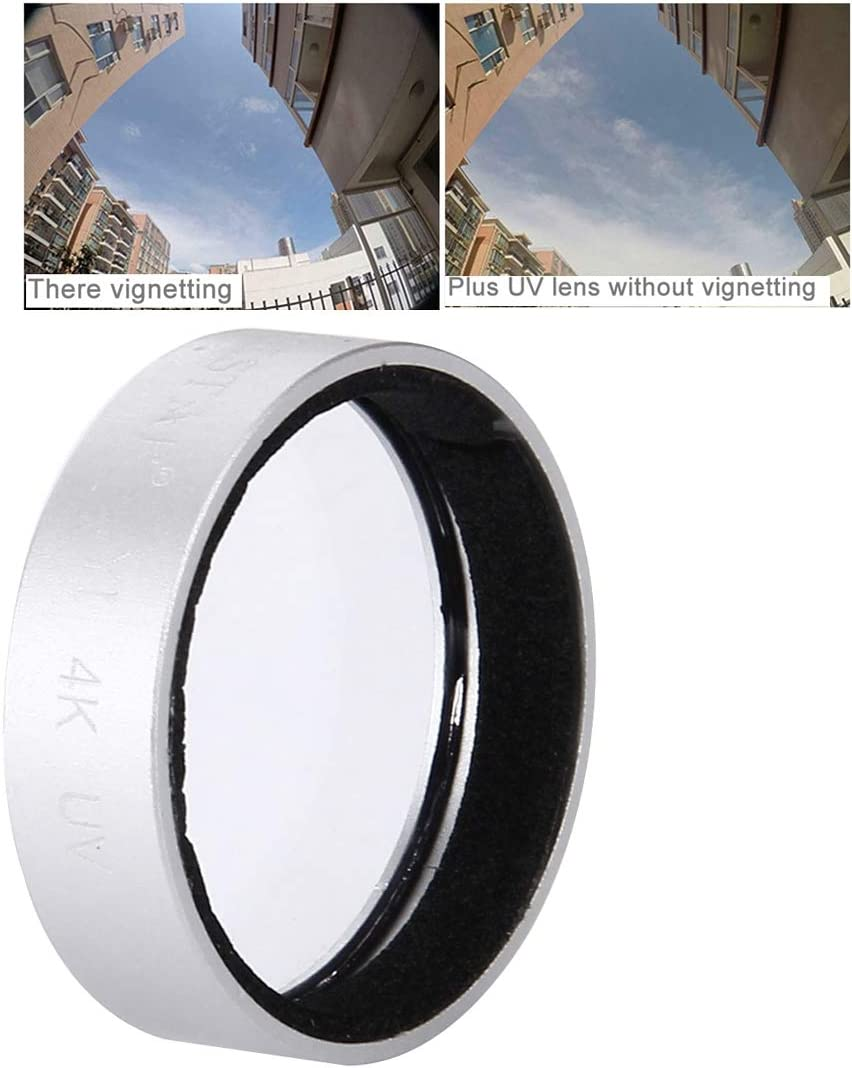 Gold Color : Silver Yangjingya Lens Accessories JUNESTAR for Xiaomi Xiaoyi Yi II 4K Sport Action Camera Proffesional UV Filter