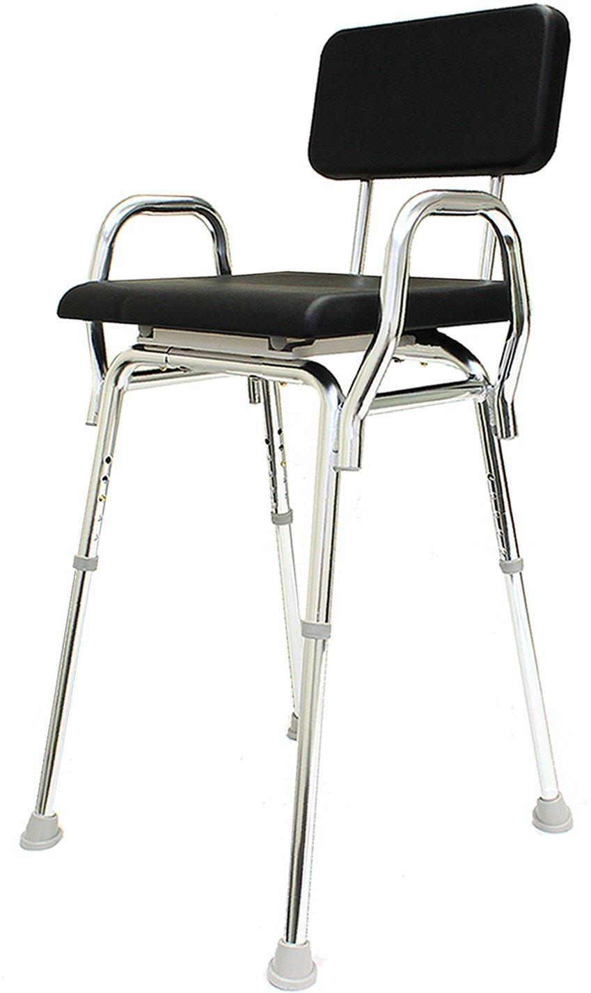 Padded Hip Shower Chair (73131) - (Seat Height: 27'' - 31'') - Bath Seat Chair - Eagle Health Supplies