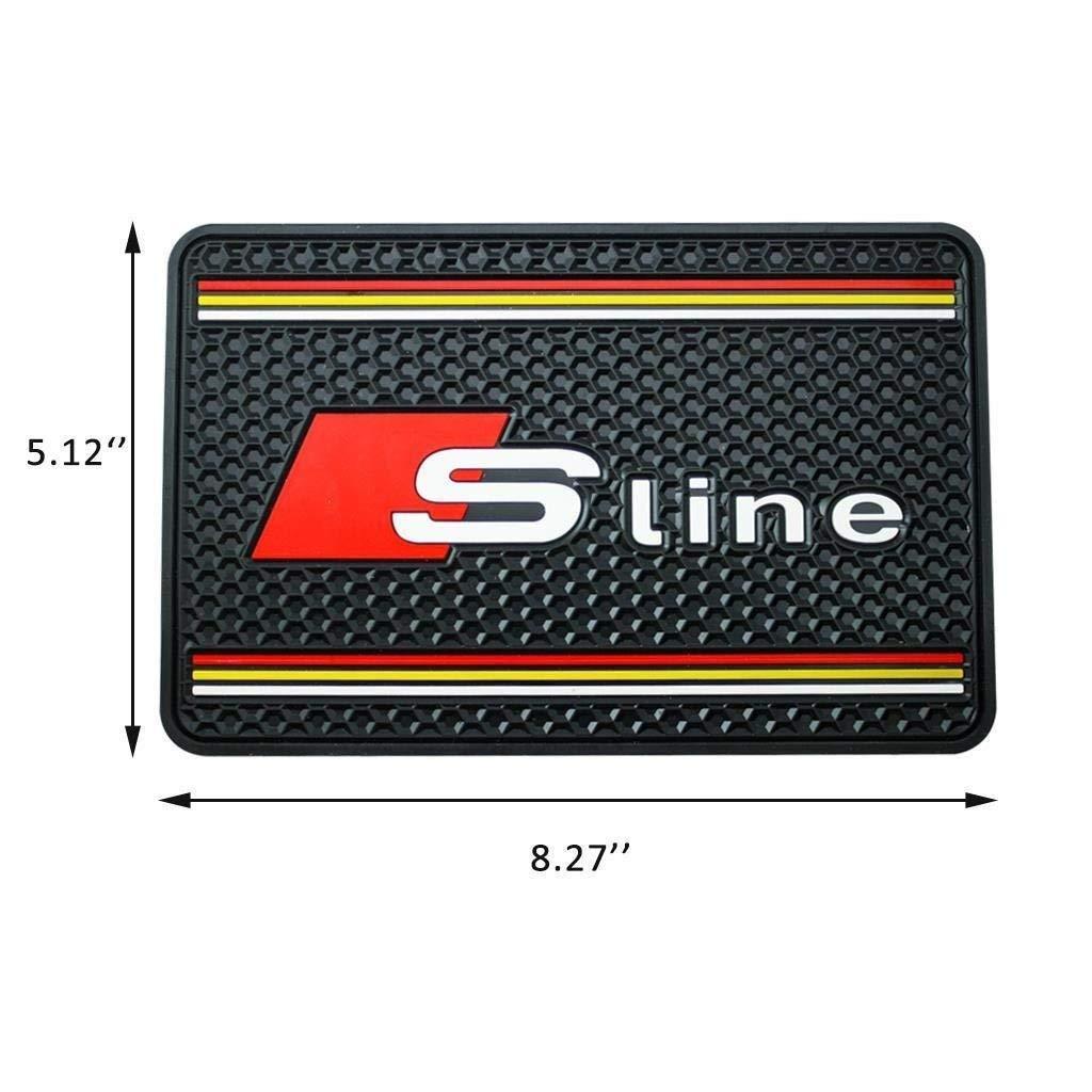 Xotic Tech Black S-Line Car Dashboard Non-Slip Rubber Mat Sticky Phone Holder for Audi Xotic Tech Direct