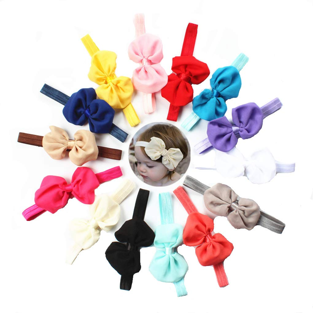 BrilliantDay 14 bandeaux élastique multicolores pour bébé