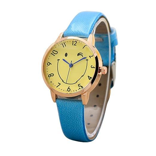 Relojes para Niñas Impermeable en Venta, Mujeres Relojes de Pulsera 2019 Moda Color Correa Digital Dial Cuero Banda Cuarzo Analógico Relojes de Pulsera ...