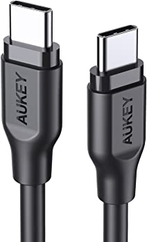 AUKEY USB C to USB C 6ft Fast Charge Cable