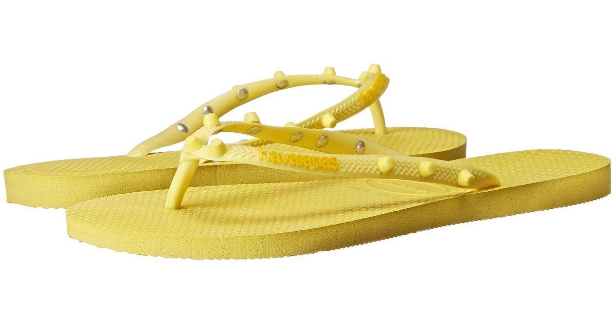 Havaianas Slim Candy Mesdames Flip Flops Jaune 4.132.594-2827, Taille: 41/42