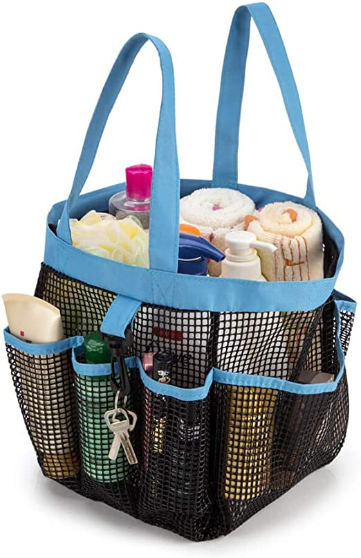 Portable Mesh Shower Caddy Organizer Storage Basket Travel Tote Bath Gym Bag New