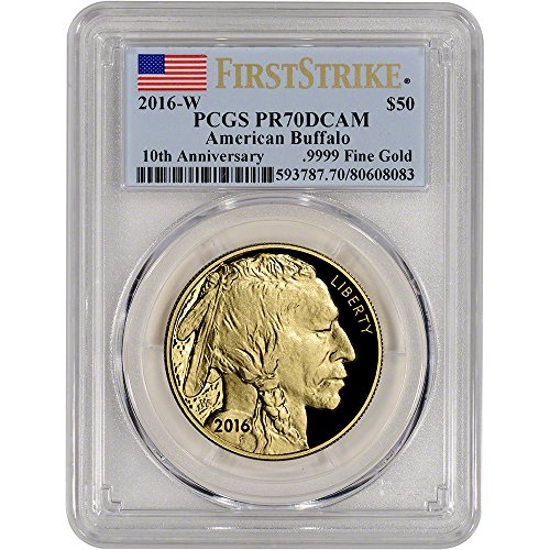 Proof Gold Buffalo - 2016 American Gold Buffalo (1 oz) Proof First Strike $50 PR70 PCGS DCAM