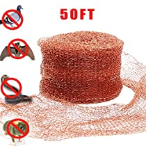 Haierc Copper Mesh for Mouse Rat Rodent Control, Snail Control Snake Control,Bat Control,Insect Control, DIY Pure Coper Fill Fabric 5 x50FT,100% Copper