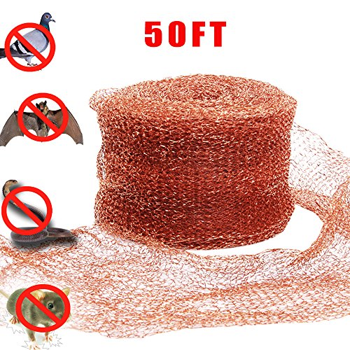 Haierc 5' X50FT Copper Mesh DIY Pure Coper Fill Fabric 100% Copper Roll