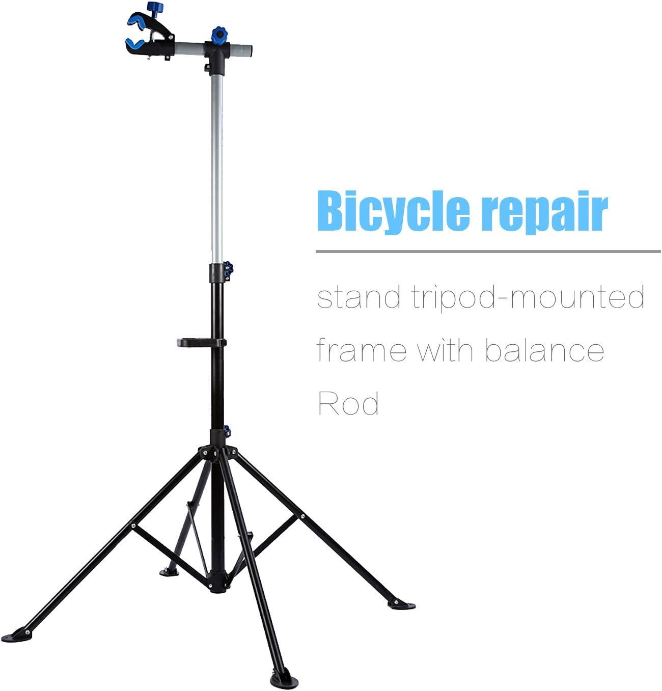 Zerone Support de R/éparation pour V/élo Pied d/'Atelier de R/éparation V/élo VTT Hauteur R/églable Stand de R/éparation Rotatif 360/°