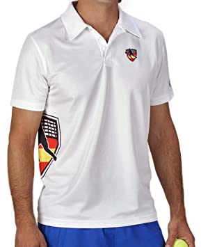 Polo Cool Plus Shark Padel SH1001 (Blanco, S): Amazon.es: Deportes y aire libre