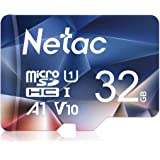 Netac 32GB Micro SD Card, microSDHC UHS-I Memory Card - 90MB/s, 600X, U1, C10, Full HD Video V10, A1, FAT32, High Speed Flash