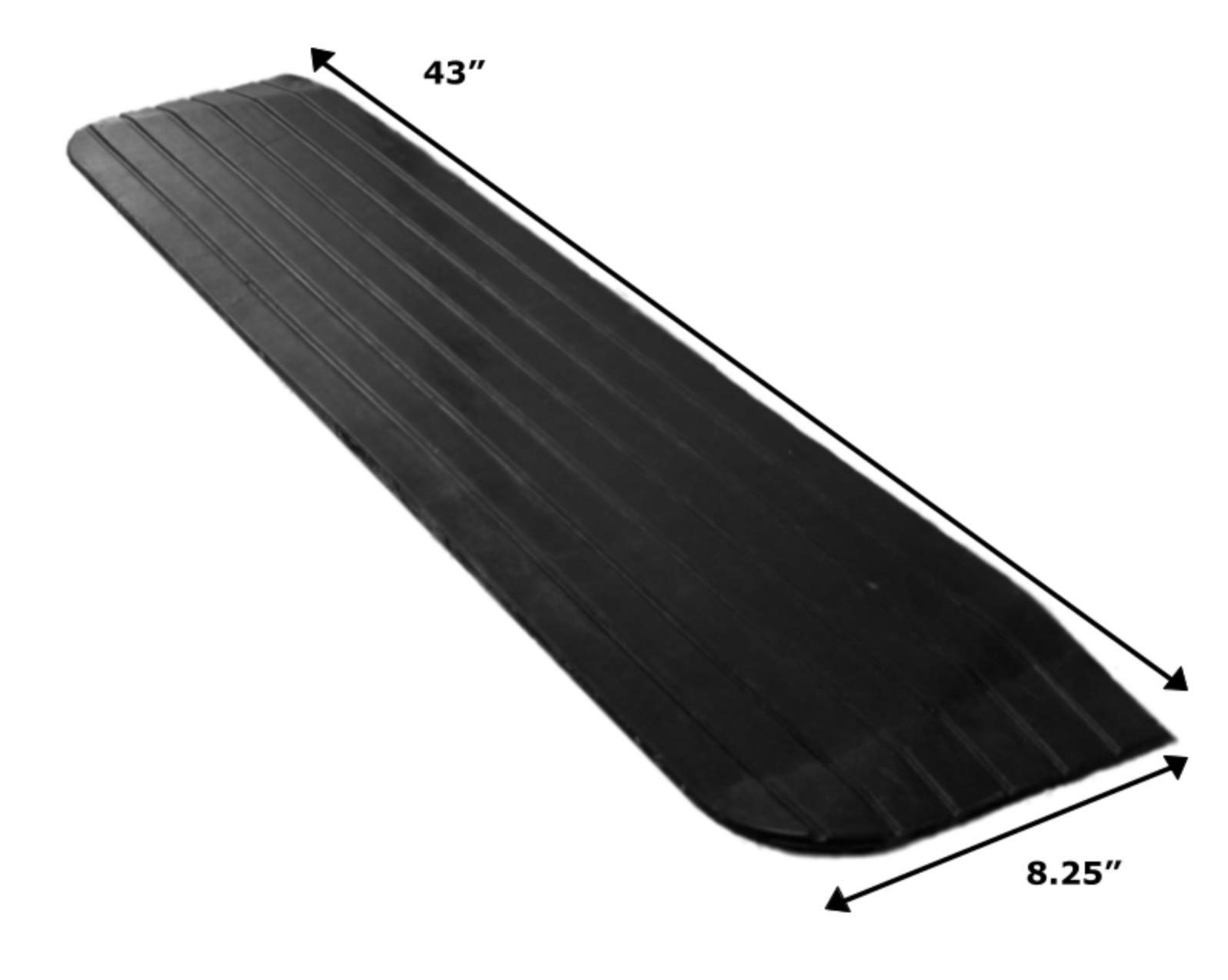 Foghorn Construction- 1 Inch High Threshold Ramp for Door, 43 Wide, Wheelchair, Doorway Ramps and Any Opening Where The sill has a Tripping Hazard in The Way. Heavy and Strong for Powered Wheelchairs by Foghorn Construction