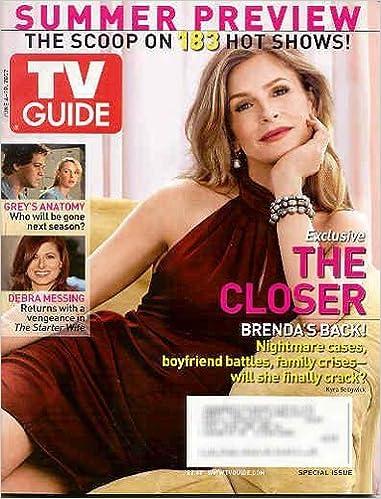 Tv Guide June 4 10 2007 The Closer Kyra Sedgwick Greys Anatomy