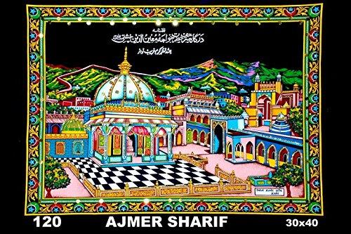 Artncraft Sequin Work Sitara Ajmer Sharif Muslim Cloth Painting 30''X 40'' by Artncraft