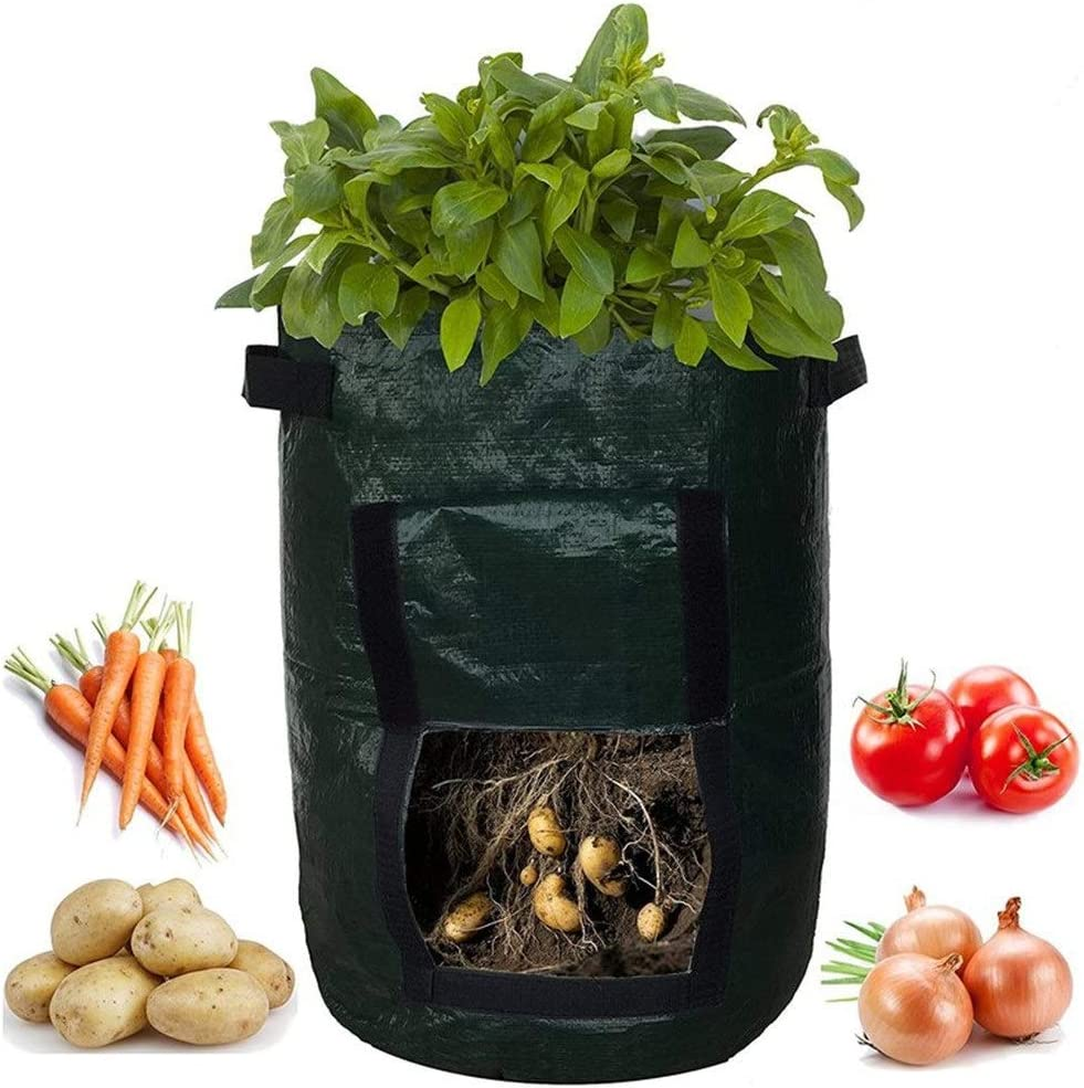 7 Gallon Potato Grow Bags, 3 Pack Plant Grow Bags Growing Pots Garden Planter Pouch with Handles & Flap for Vegetables,Fruits and Flowers